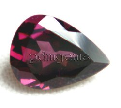 Rhodolite Garnet Faceted Pear Gemstone