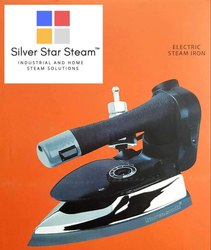 Black and Silver ES-300 Gravity Feed Steam Iron 1000W