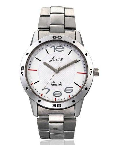 6bbbfeb10cc2 Silver White Dial Chain Wrist Watch For Men