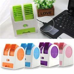 Mini USB Cooling Fan Cooler Portable Desktop Dual Blades Air Conditioner USB Cooler Fan 5V, 2.5W