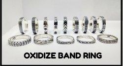 925 Sterling Silver Band Oxidize Rings