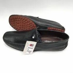 Black Genuine Leather Loafers