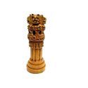 Wooden Ashok Stambh Brown Showpiece