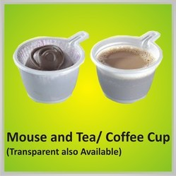 Plastic White Mouse And Tea Coffee Cup
