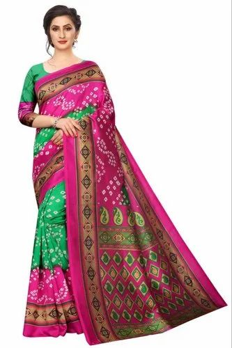 Fabzone Party Wear Designer Art Silk Saree, Length: 6.3 m (with Blouse Piece)