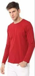 Red Cotton Full Sleeves T Shirts