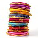 Indian Handcraft Latest Traditional Silk Thread Bangles Set