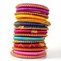Indian Handcraft Latest Traditional Silk Thread Bangles Set Of 10