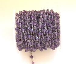 Natural Amethyst Rosary Chain