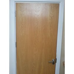 PARAM Brown Pine Wood Flush Door, For Home