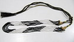 Black and White Cubic Zirconia Beads Necklace