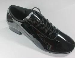 Men's Modern Shoes / Ballroom Shoes Leatherette Oxford Low Heel Non Customizable Dance Shoes Black