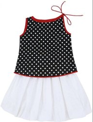 GRS Recycle Cotton Kids Skirt Top Set