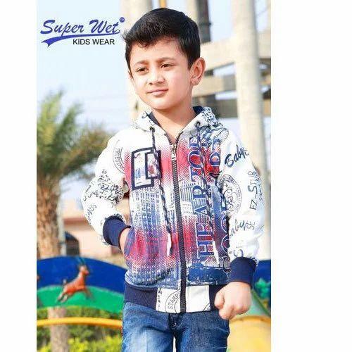 3aceec935 Cotton Kids Boy Designer Fleece Full-Zip Hoodie