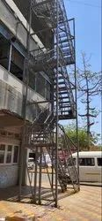 Gray Fire Escape Stair