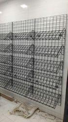 wall mount grid basket display