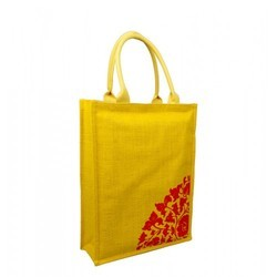Yellow Jute Wedding Bag