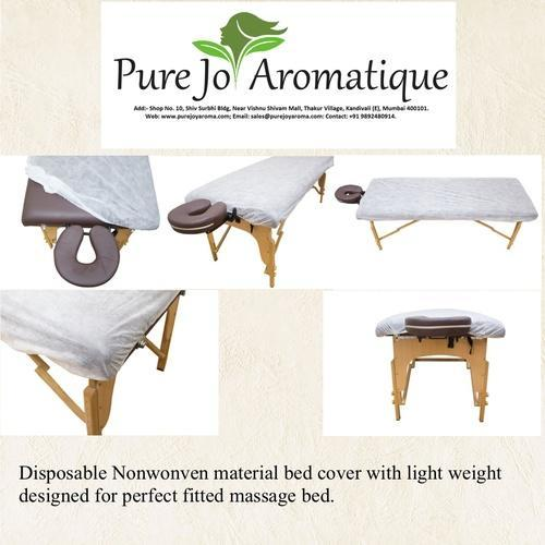 White Jacquard Disposable Fitted Massage Bed Cover Rs 20 Piece