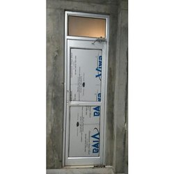 Silver Aluminium Bathroom Door