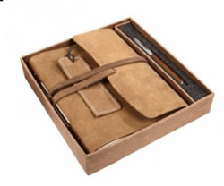 Leather Cover Journal Gift Set Diary