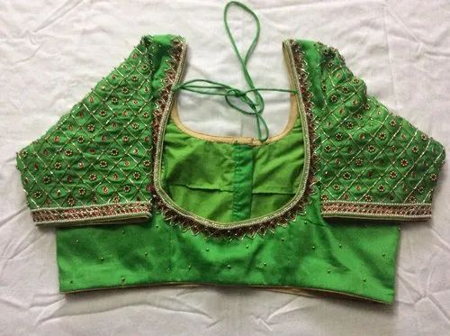 Hand Embroidery Aari Work Maggam Work Blouse Rs 2500 Piece Titlys Fashion Id 20749168773,Hair Design For Wedding Simple