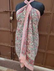 Block Printed Cotton Sarong