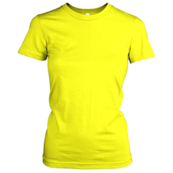 Sublimation Ladies T-Shirts Yellow