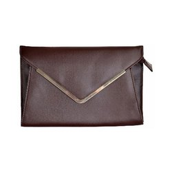 Azzra Brown Elegant Envelope Clutch Bag