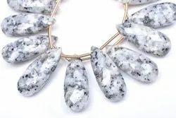 White Jasper Pear Beads