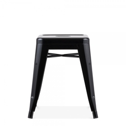 Metal Low Stool With Blackish