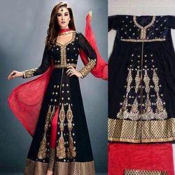 Multi Embroidered Ladies Indo Western Dress