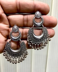 Oxidized Earrings Chandbali