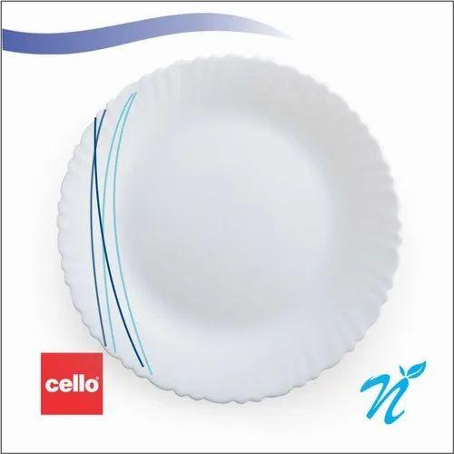 White Round Dinner Set 31 Pcs Cello