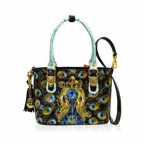 ff31f052c0d2 Printed Rexine Ladies Designer Handbag