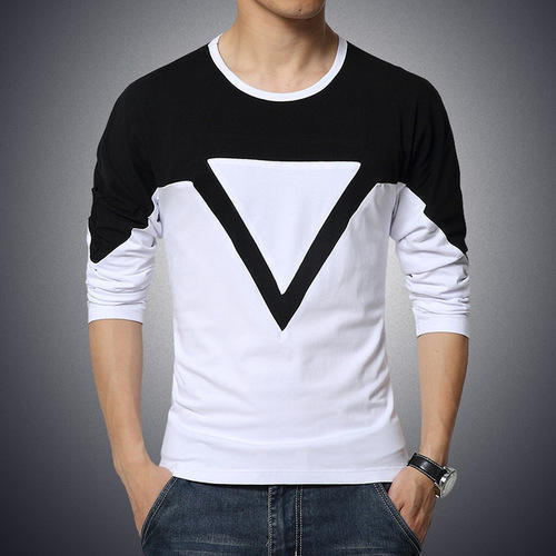 Black And White Party Wear Casual Wear Mens Fancy T Shirt Rs 250