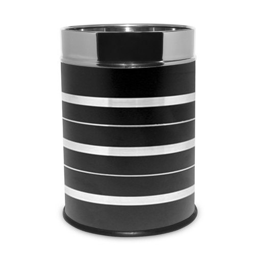 Open Top Stainless Steel Leather Dustbin, Capacity: 11-15 Liters