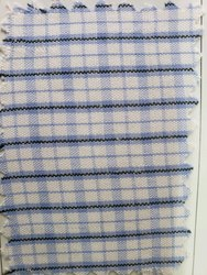 Blue And White Stripes Uniform Fabric