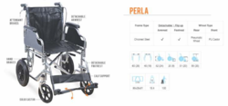 PERLA Premium Steel Wheelchair