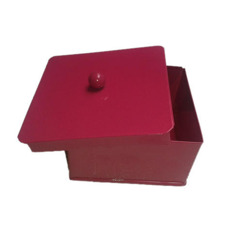 Red Galvanized Storage Box