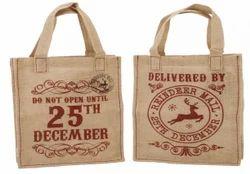 Christmas Jute Gift Bag