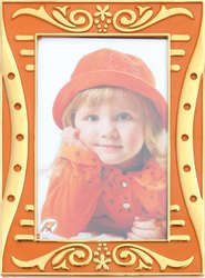 Hips Orange Economic Gift Photo Frame for Decoration, Size: 4 x 6 Inch
