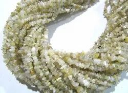 Natural White Ethiopian Opal Chip Gravel Uncut Nugget 4mm To 5mm Strand 34 inches