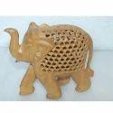 Wooden Undercut Elephant Statue
