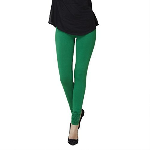 Churidar Plain Ladies Green Cotton Legging