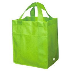 Plain Green Woven Bag, Packaging Type: Packet