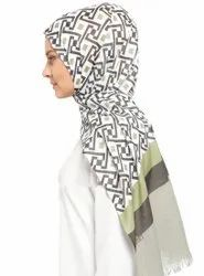 Printed Pashmina Cotton Scarf Hijab Dupatta For Women