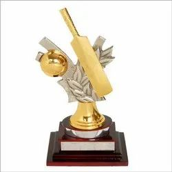 Metal Cricket Trophy