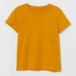 Round Half Sleeve Mens Plain Cotton T Shirt