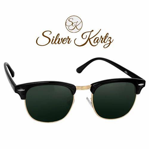 1752dfac46f7b Male Silver Kartz Clubmaster Unisex Sunglasses WY034