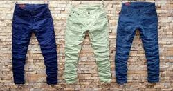 Lycra Faded Mens Jeans